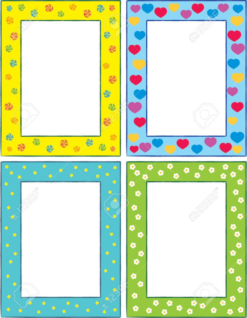 Original Picture Frames Set Of Original Funny Vector Decorative Framesthis Is A Vector