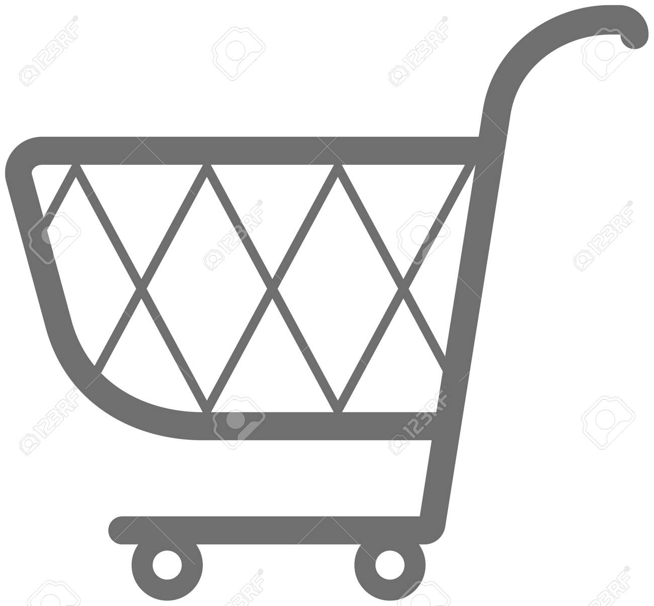 Shopping cart illustration Stock Vector - 4960631