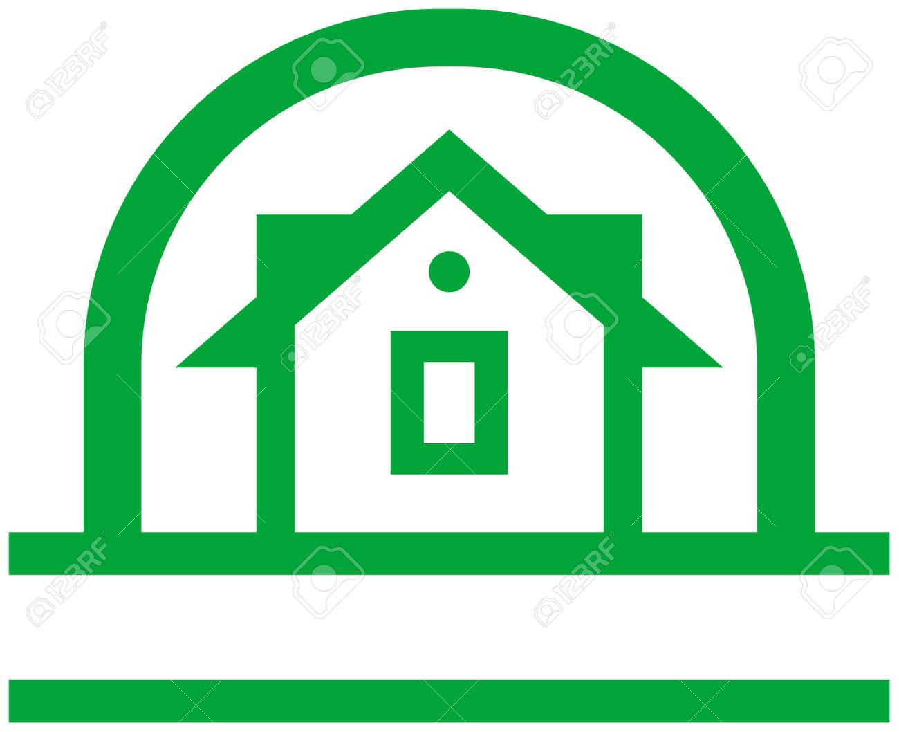 Country house vector logo Stock Vector - 4960634