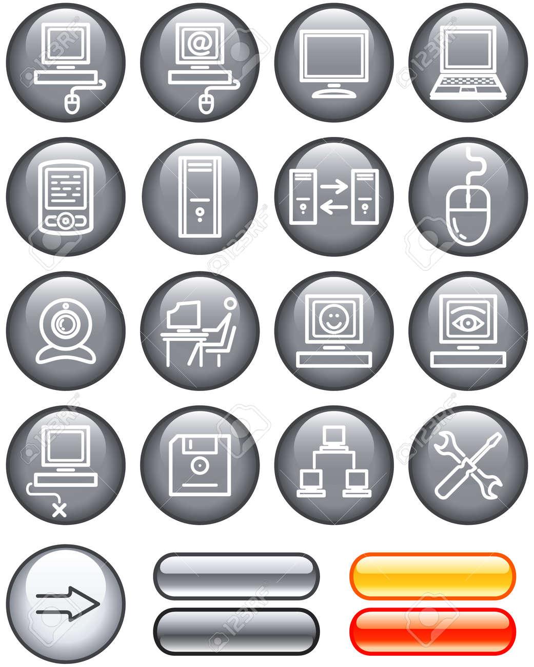Web Icons Set � Hardware (Vector) Stock Vector - 4960762