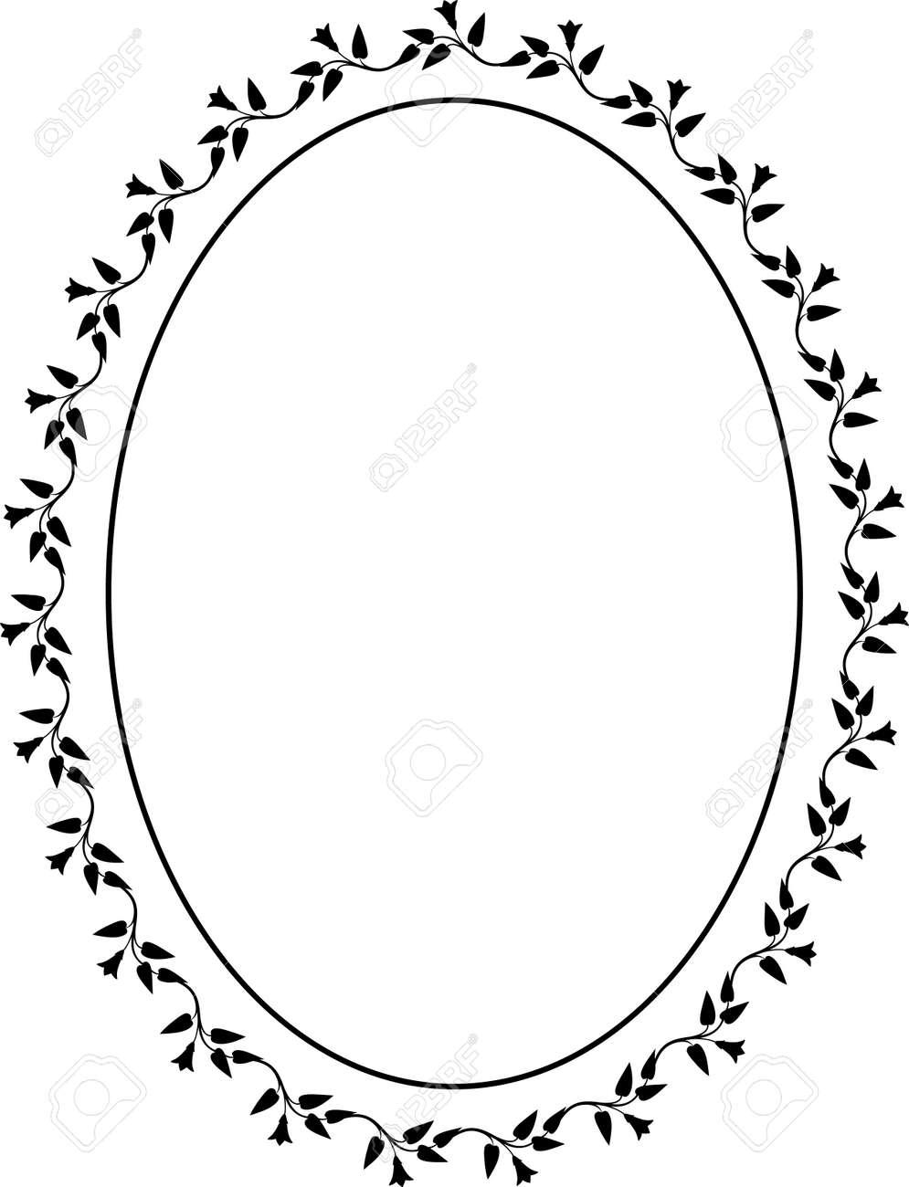 Vector oval decorative frame Stock Vector - 4960714
