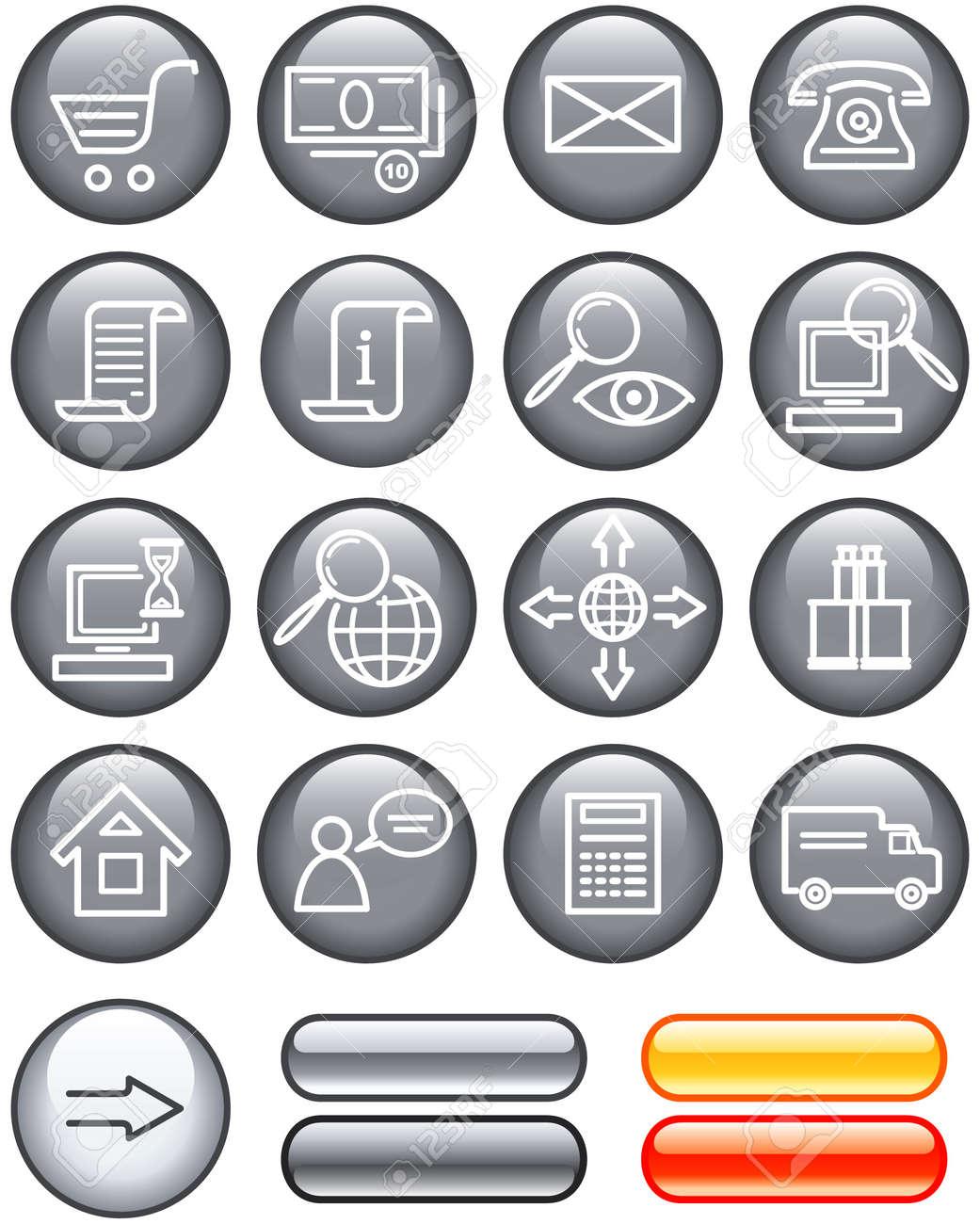 E-Commerce Icon Set (Vector) Stock Vector - 4960759