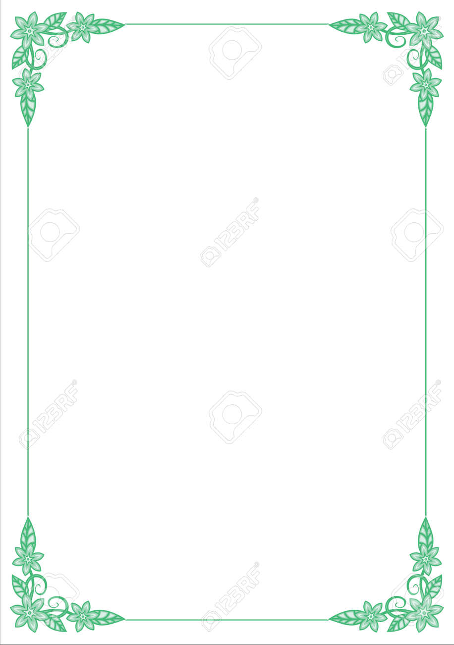 Vector Flower Border Stock Vector - 4960757