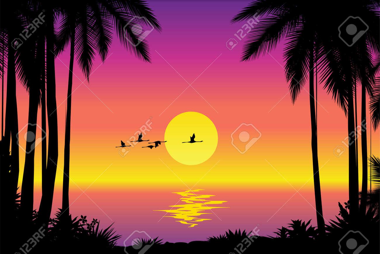 Tropical seascape Stock Vector - 4960821
