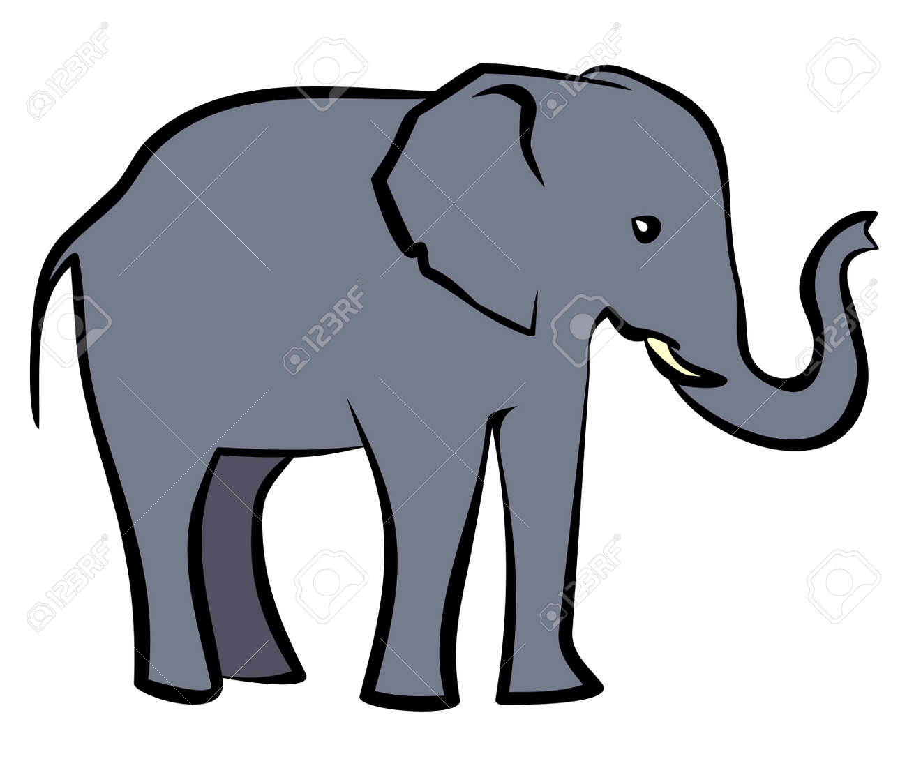 baby elephant vector illustration royalty free cliparts vectors rh 123rf com elephant vector art elephant vector images