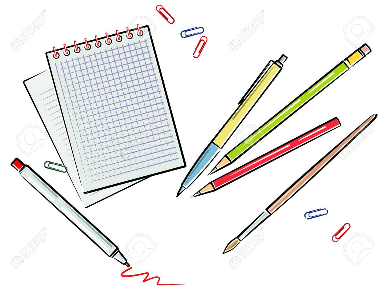 Office supplies illustration (Vector) Stock Vector - 4961624