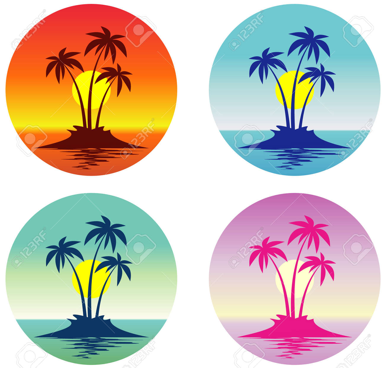 Tropical scene (Vector) Stock Vector - 4961704