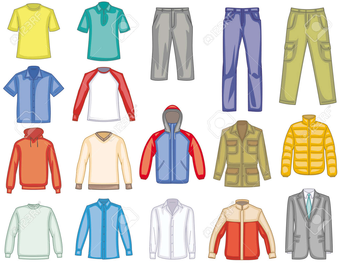Men's Clothes Illustration Royalty Free Cliparts, Vectors, And ...