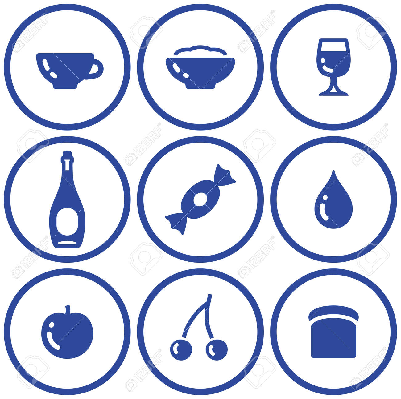 Icon set� food and drink (Vector) Stock Vector - 4971717