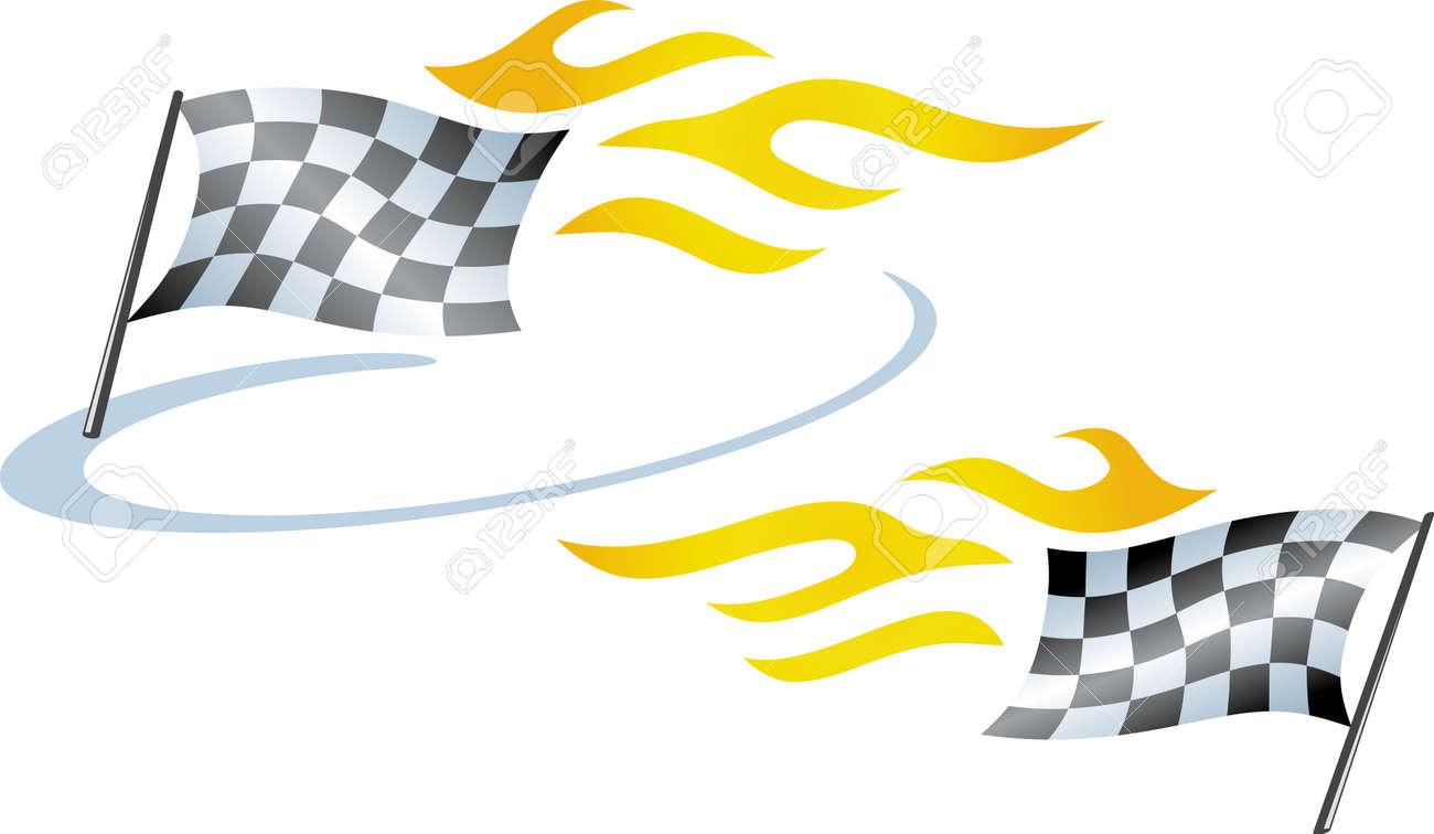Racing flag Stock Vector - 4971782