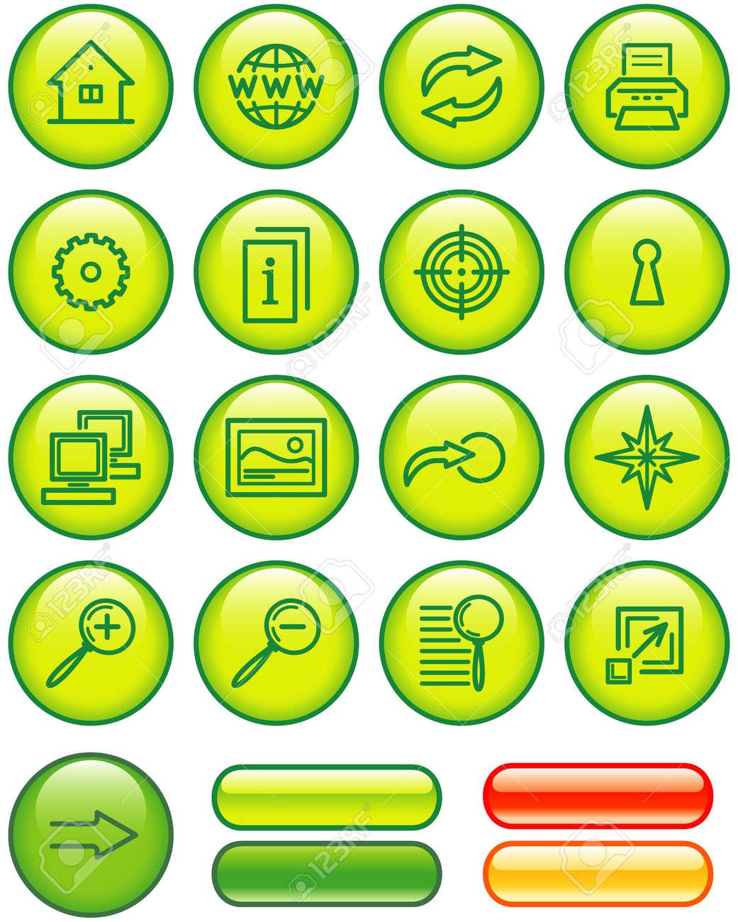 Website Icons Set (Vector) Stock Vector - 4984743