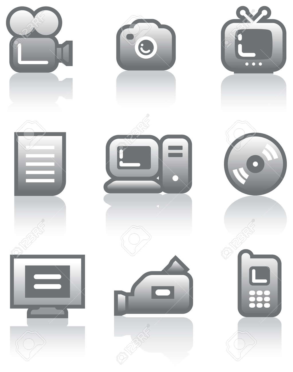 Media - Vector Icons Set Stock Vector - 5015800