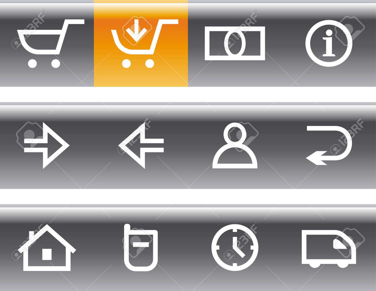 E-Commerce Icon Set Stock Vector - 7139192