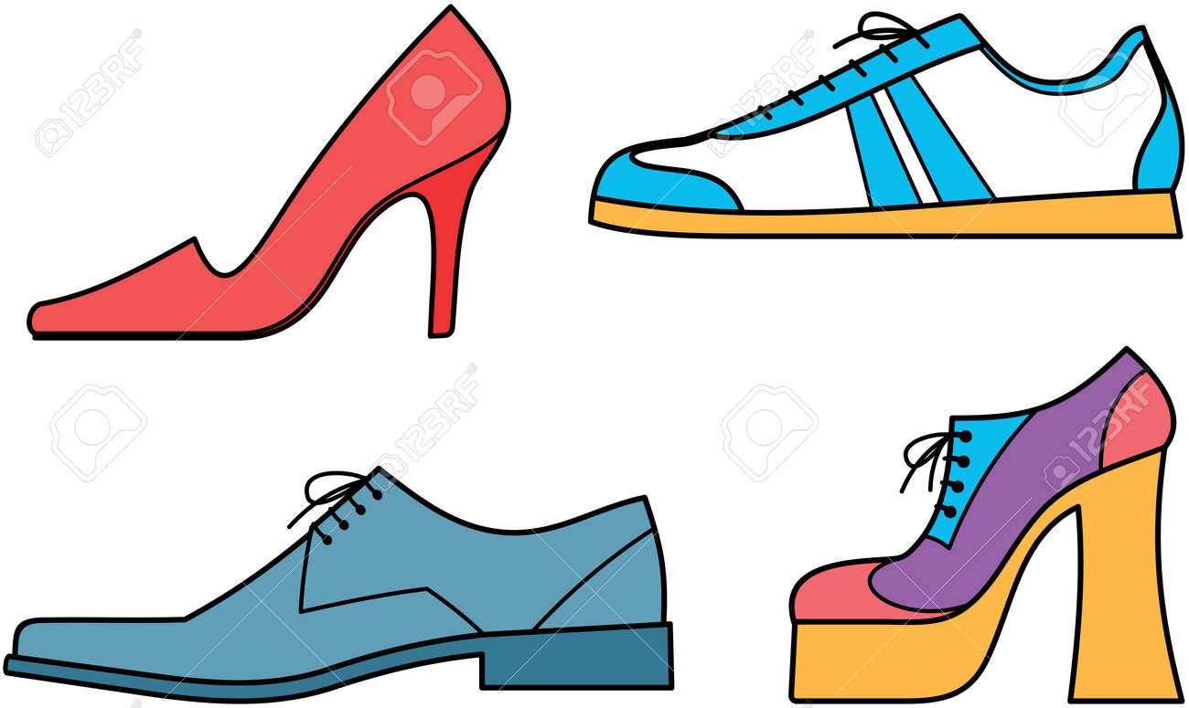 Shoes for men and women - Vector illustration - 7309605