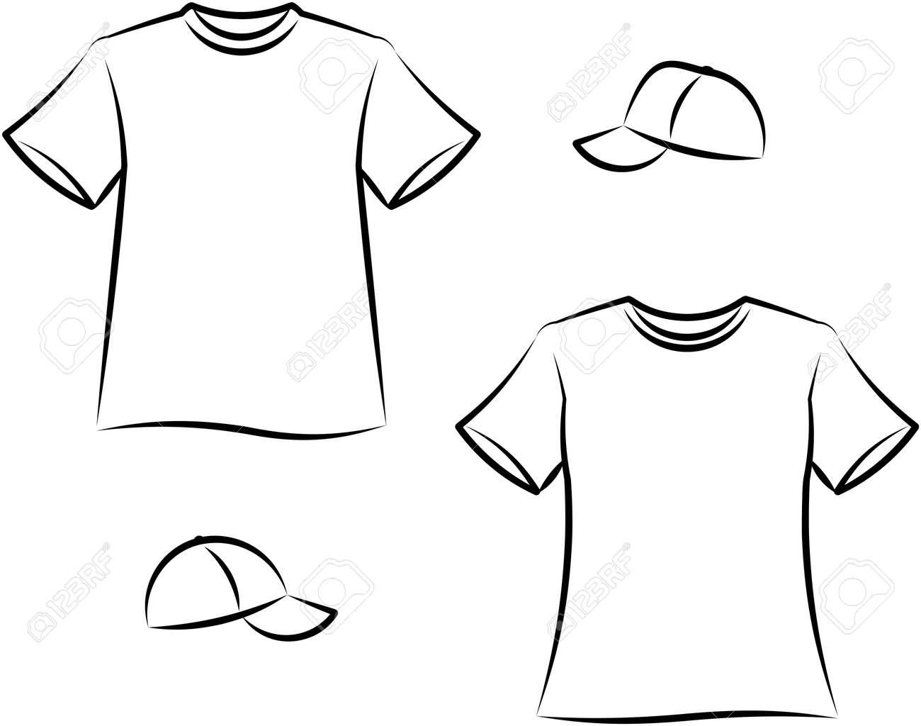 Apparel for men and women. Vector illustration - 9667571