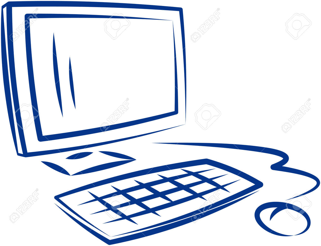 desktop computer vector illustration royalty free cliparts vectors rh 123rf com computer vector icon computer vector free