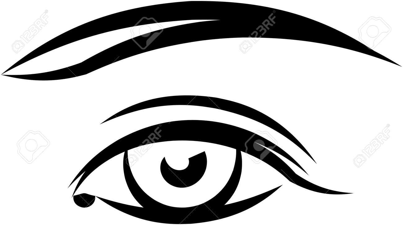 beautiful female eye vector illustration royalty free cliparts rh 123rf com eye vector art eye vector art