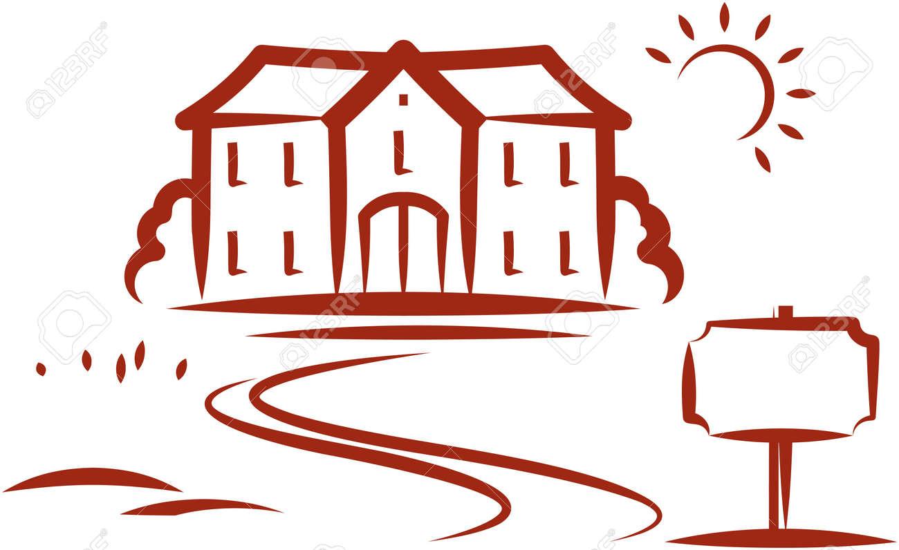 Real estate for sale. Vector illustration - 9667598