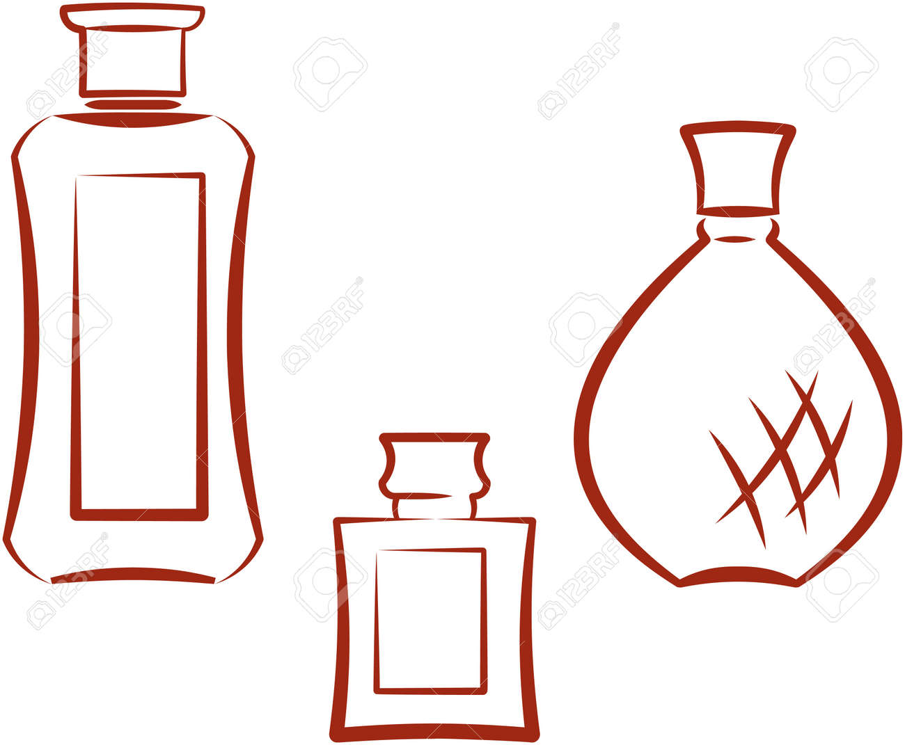 Perfume bottles. Vector illustration Stock Vector - 9667567