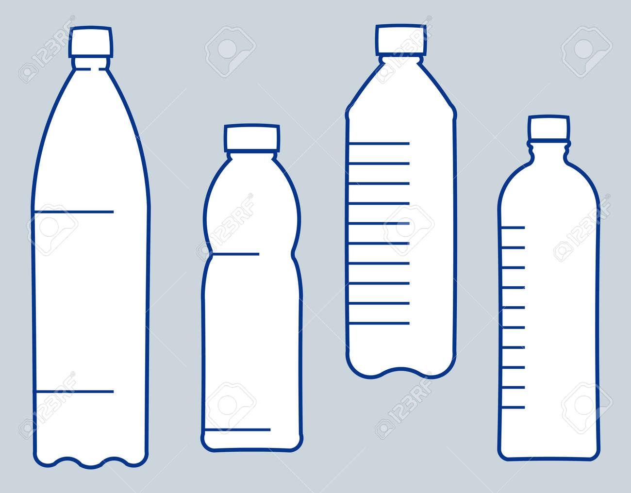 Plastic bottles. Vector illustration - 9667563