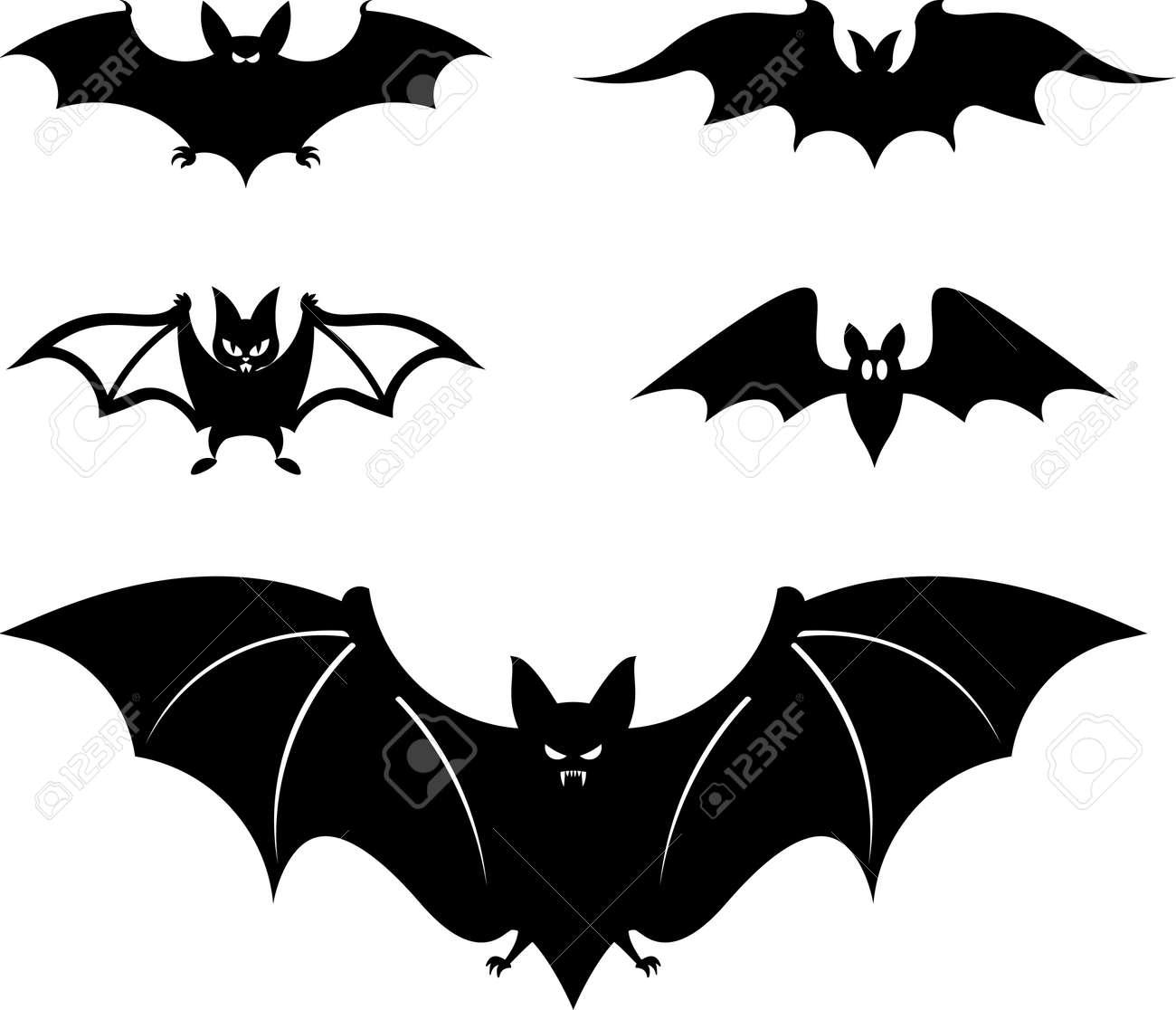Cartoon style bats – Vector illustration - 9667605