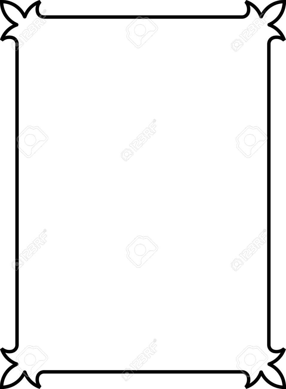 simple vintage vector border frame royalty free cliparts vectors rh 123rf com border vectors free download border vector art