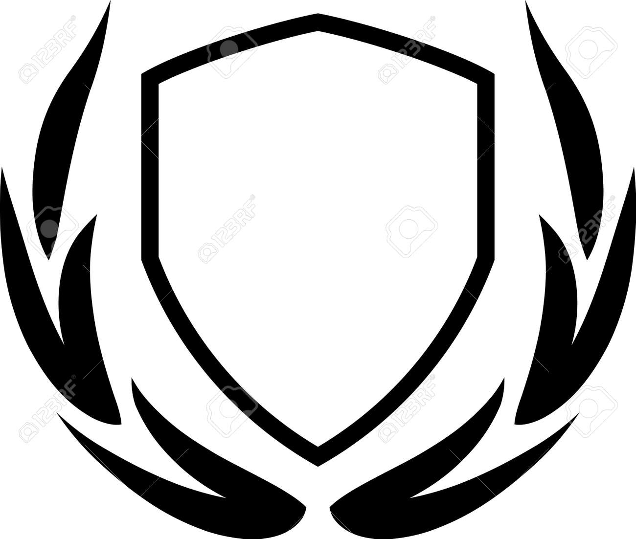 Vector coat of arms and laurel wreath isolated - 13596199