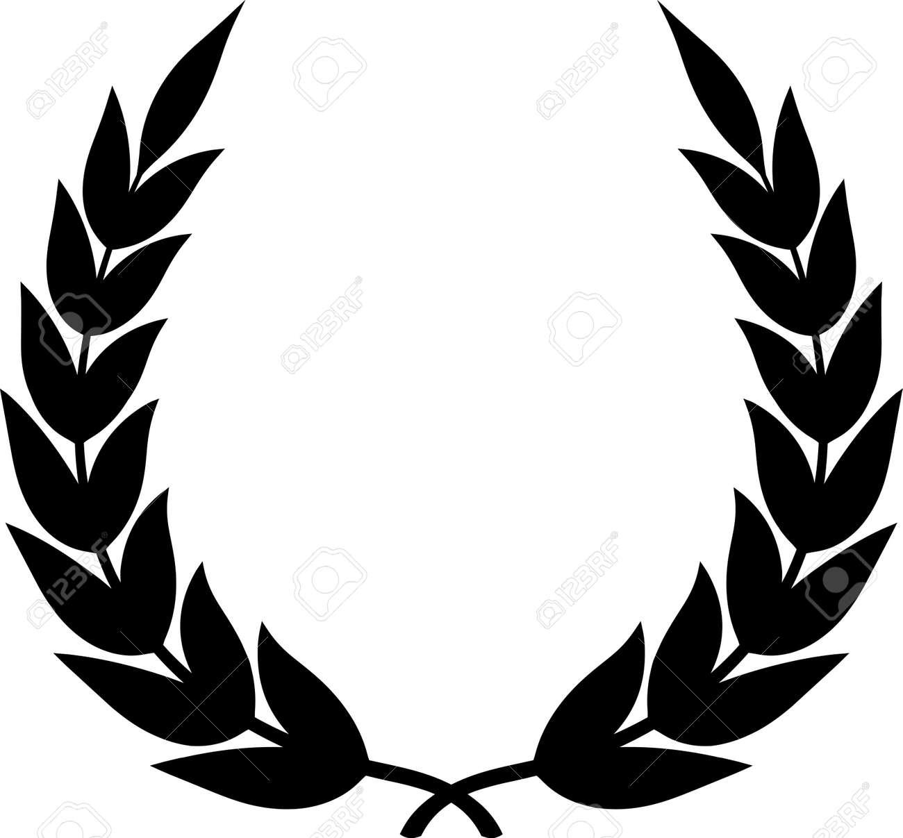 Vector illustration - Laurel wreath isolated on white Stock Vector - 13628555