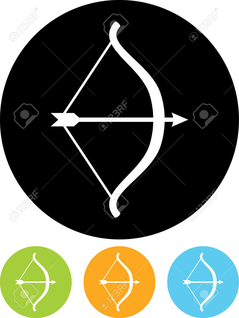 Bow and Arrow - Vector icon isolated - 15737321