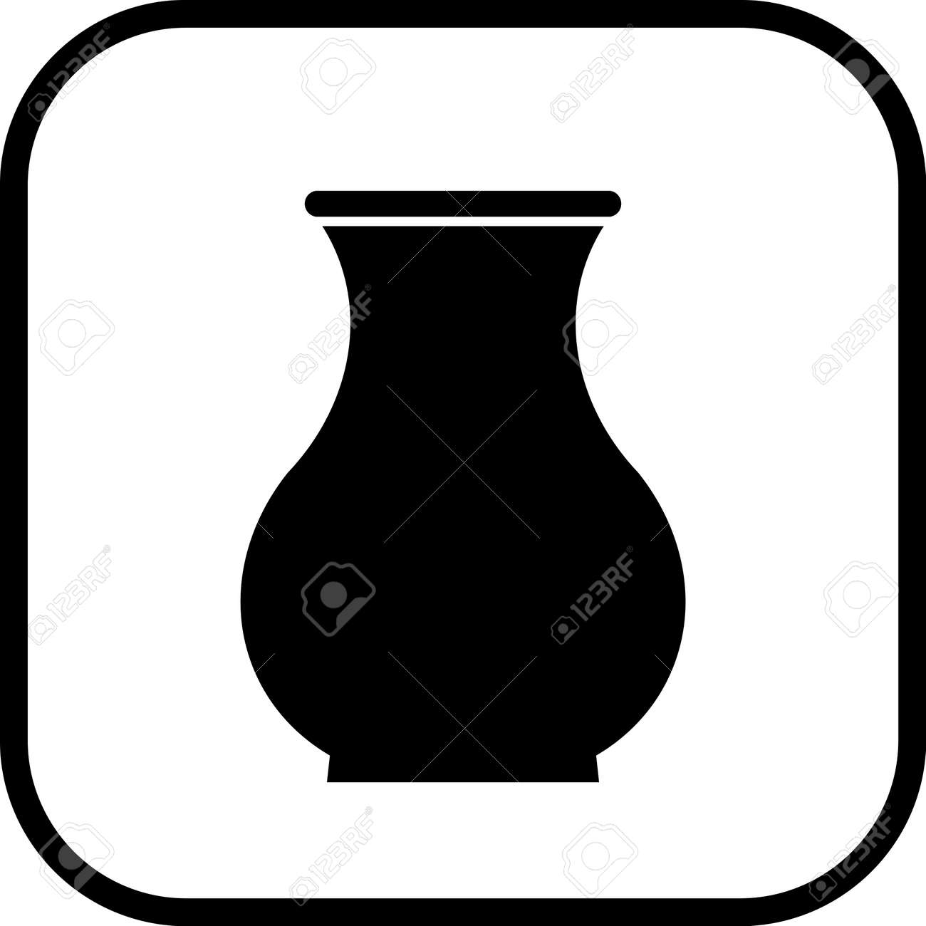 Ceramic Pot Crock Vase Vector Simple Icon Isolated Royalty Free ...
