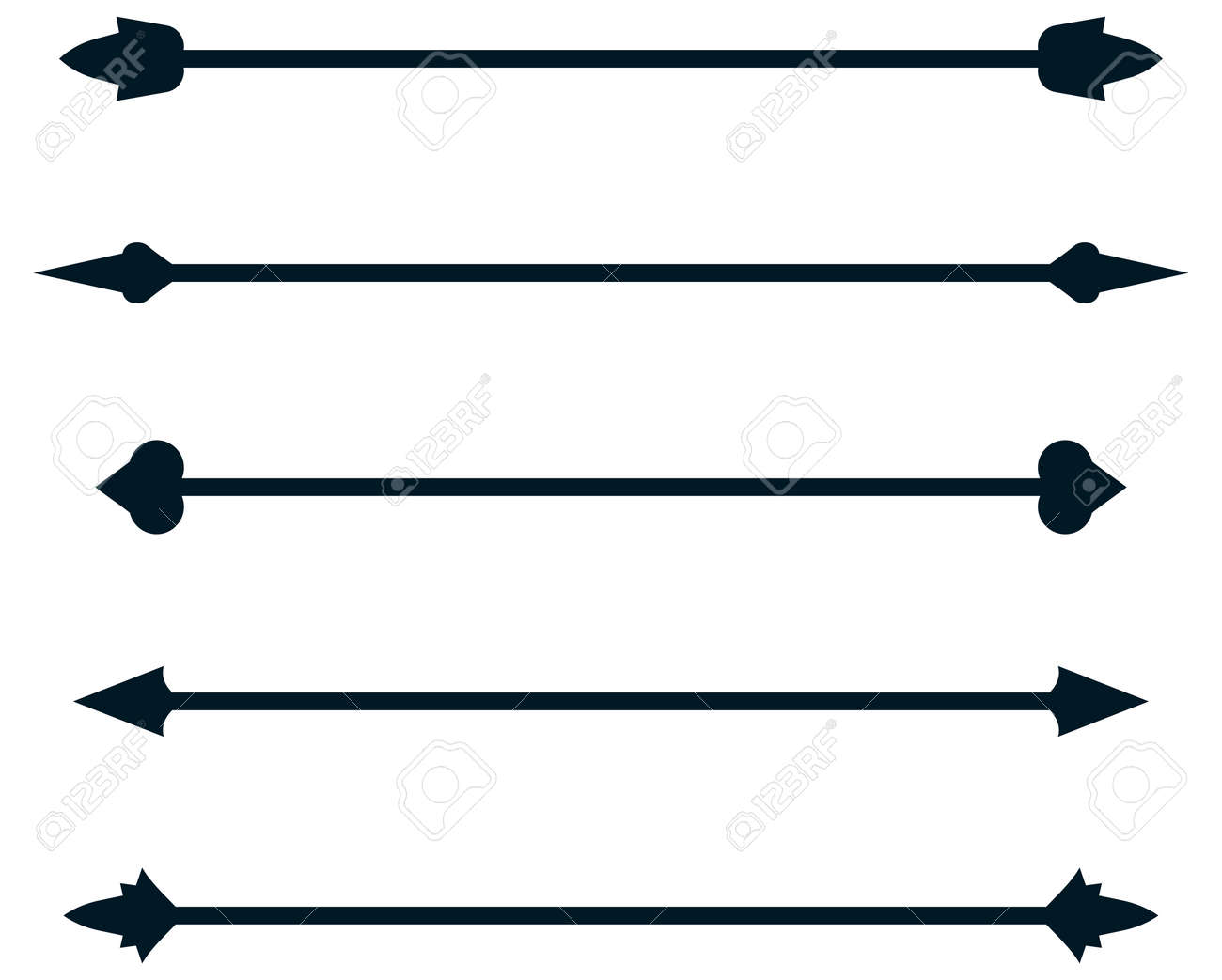 Dividing rule lines, Vector dividers rulelines illustration isolated - 43675639
