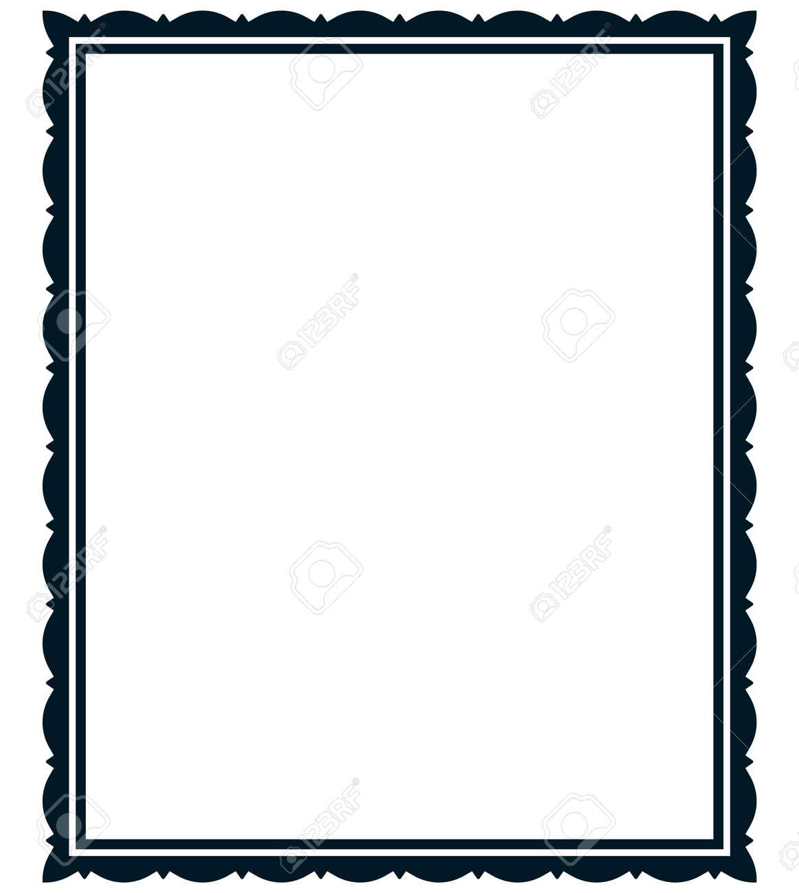 Frame vector vintage. Menu page elegant border. - 43675644