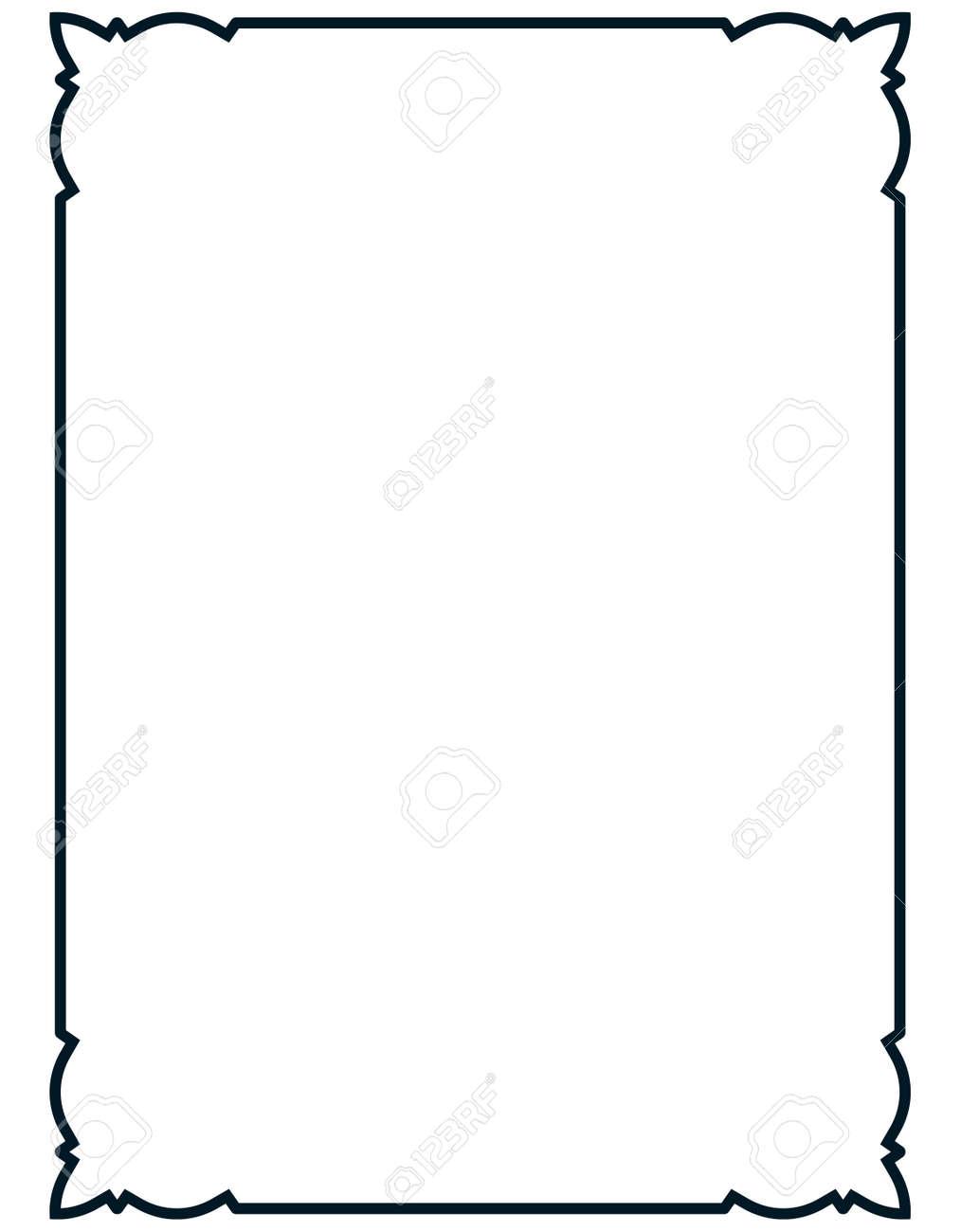Frame vector vintage. Menu page elegant border. - 43675649