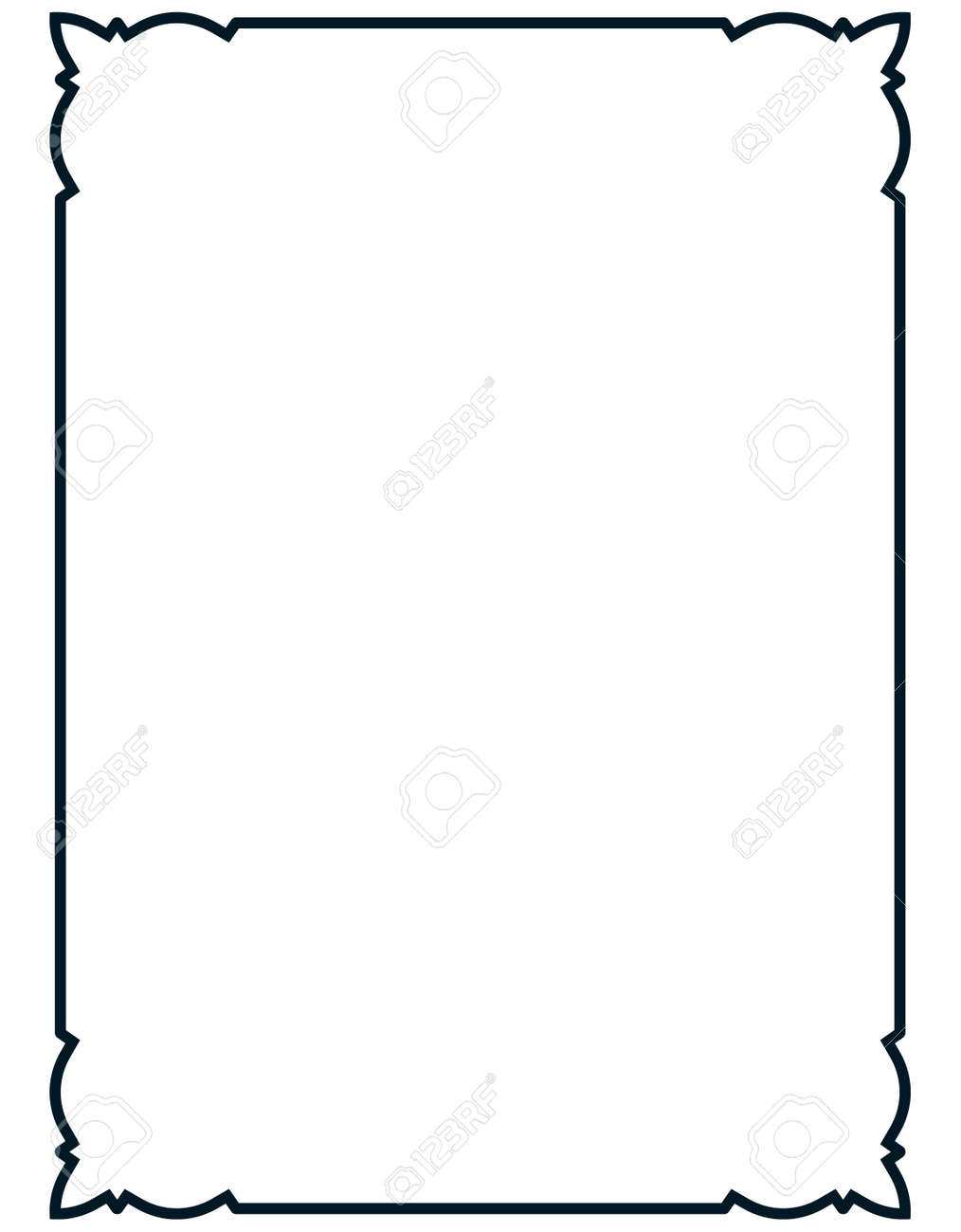 frame vector vintage menu page elegant border royalty free rh 123rf com vector frame light box vector frame borders