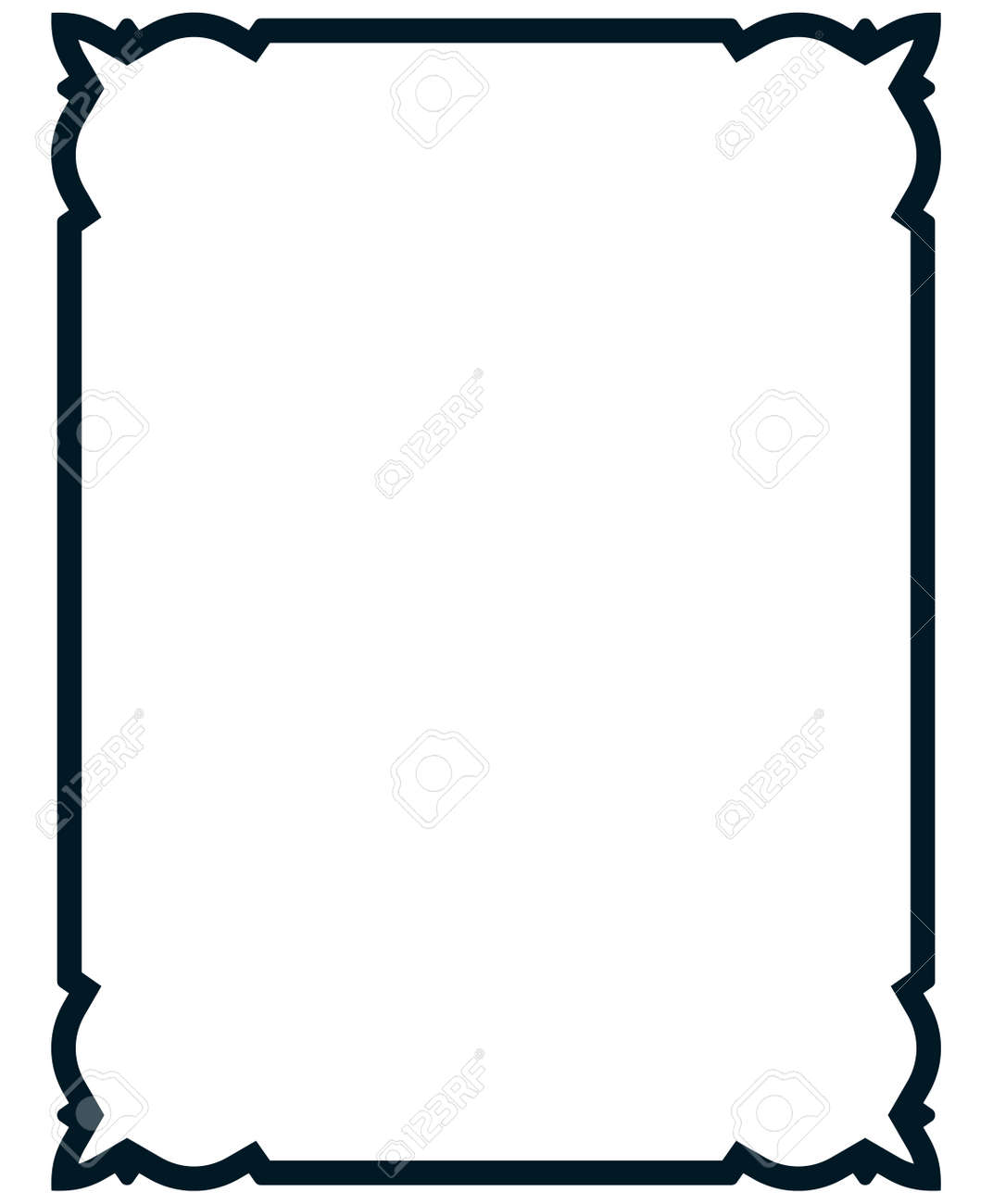frame vector vintage. menu page elegant border. royalty free