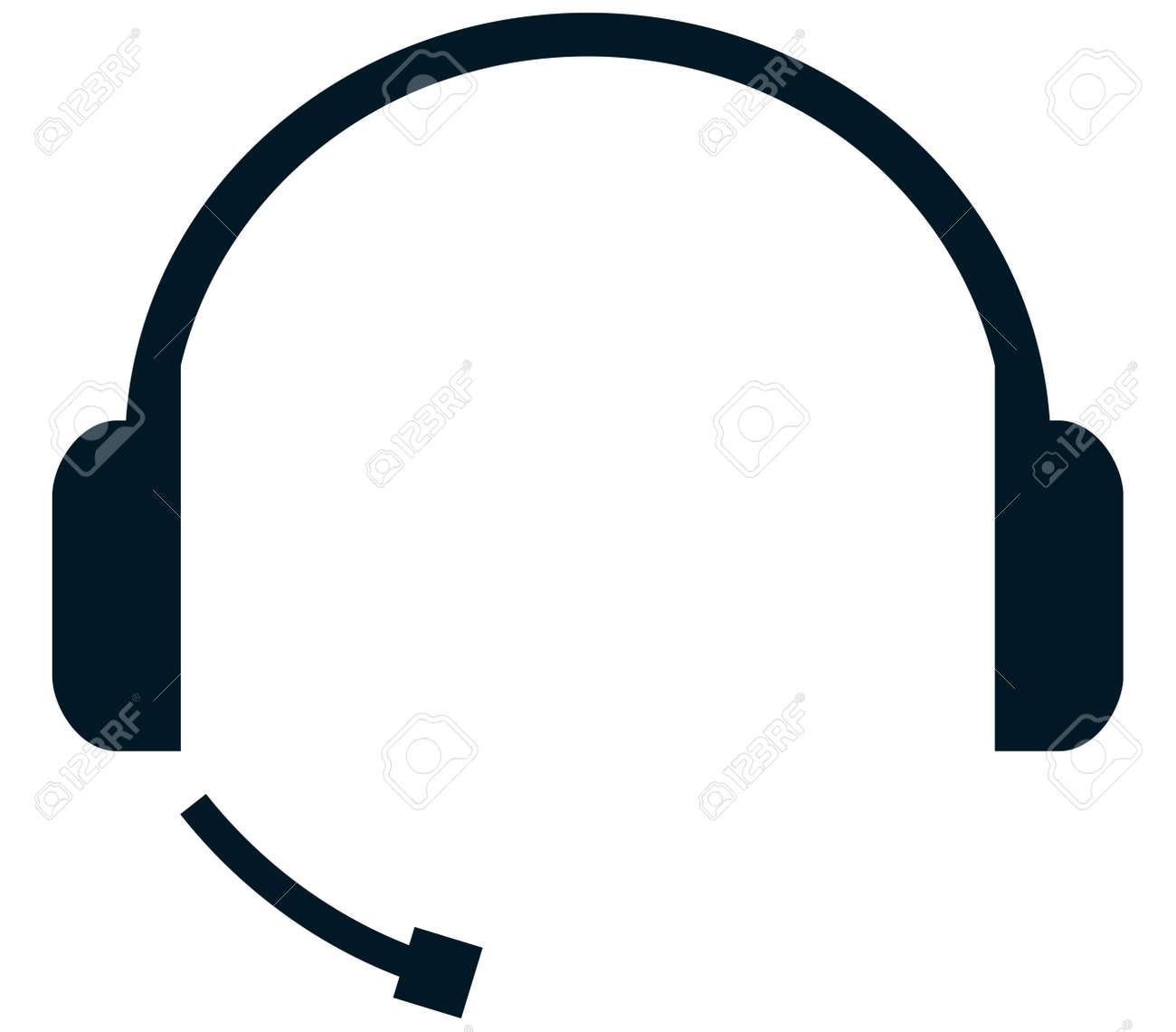 Headset handsfree headphones mic microphone vector isolated - 43889956