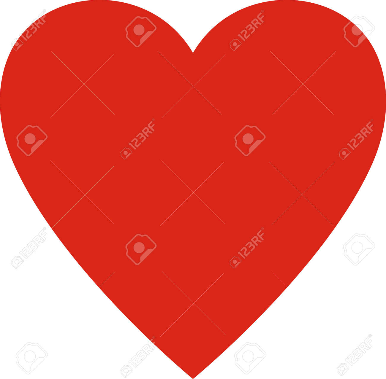 Valentines day. Heart valentine simple vector illustration isolated. Love symbol - 43890793