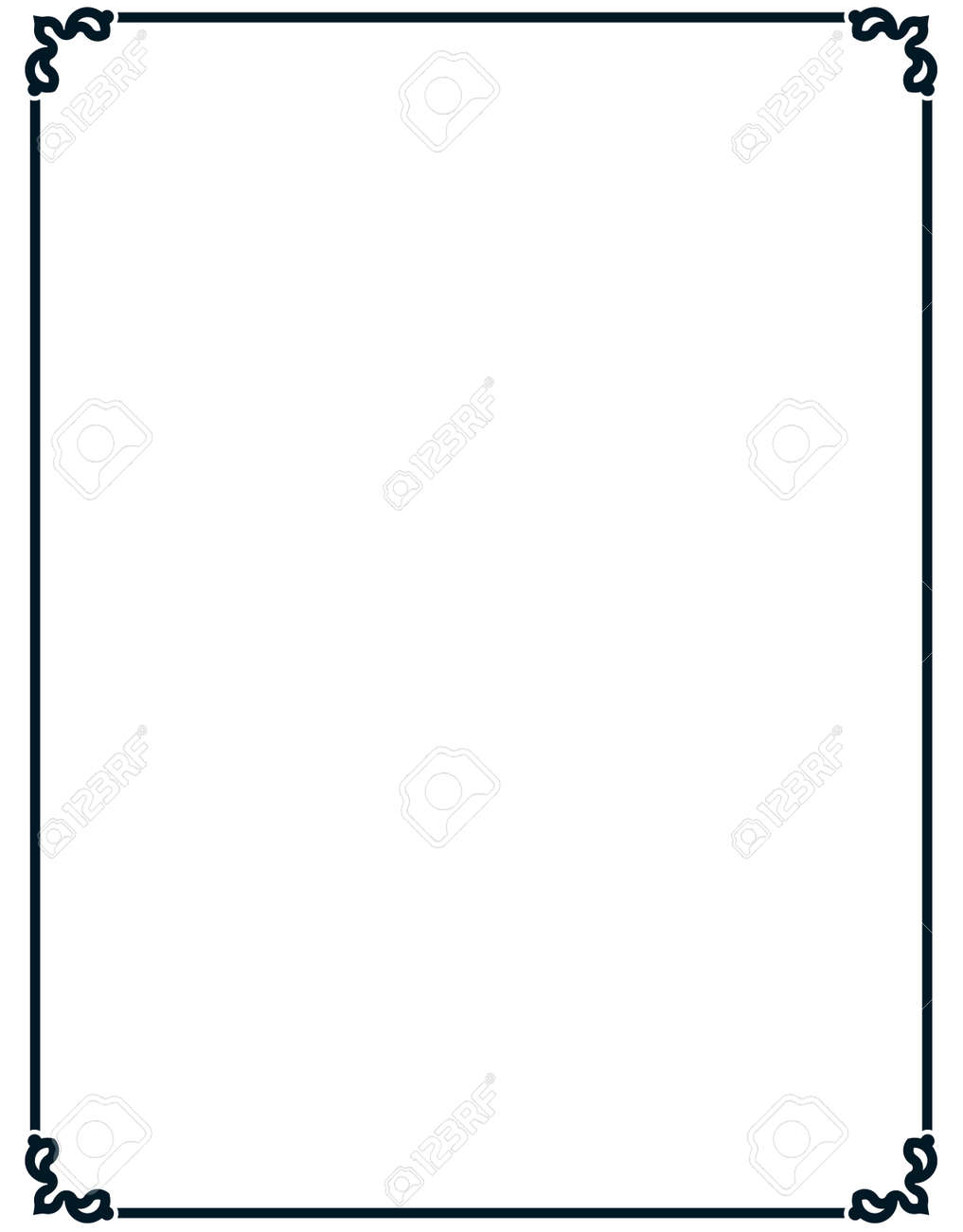 border frame deco vector art simple line corner royalty free rh 123rf com vector borders and frames vector borders and frames free