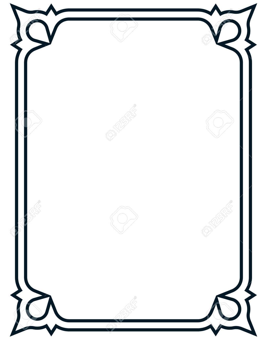 border frame deco vector art simple line corner royalty free rh 123rf com art deco vector art free art deco vector borders