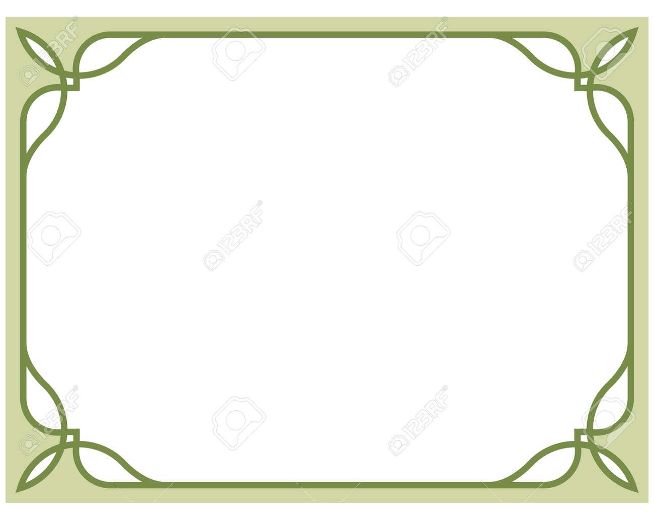 olive green border frame deco vector art simple line corner royalty rh 123rf com art deco vector art art deco vector frames