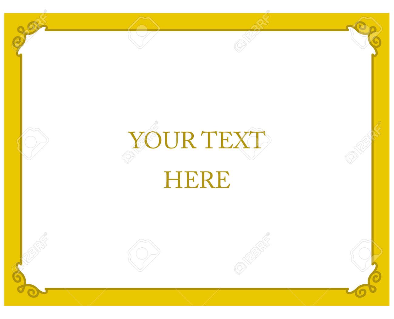 yellow gold border frame deco vector art simple line corner royalty rh 123rf com art deco frames vectors art deco vector frames