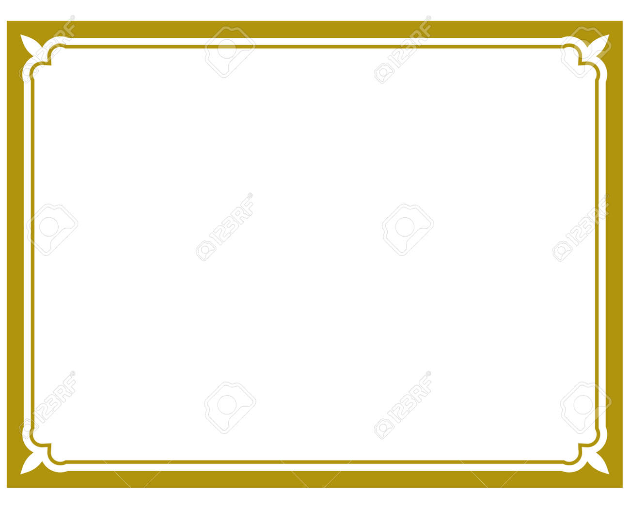 Vector Frame Simple Slim Background Plaque Royalty Free Cliparts ...