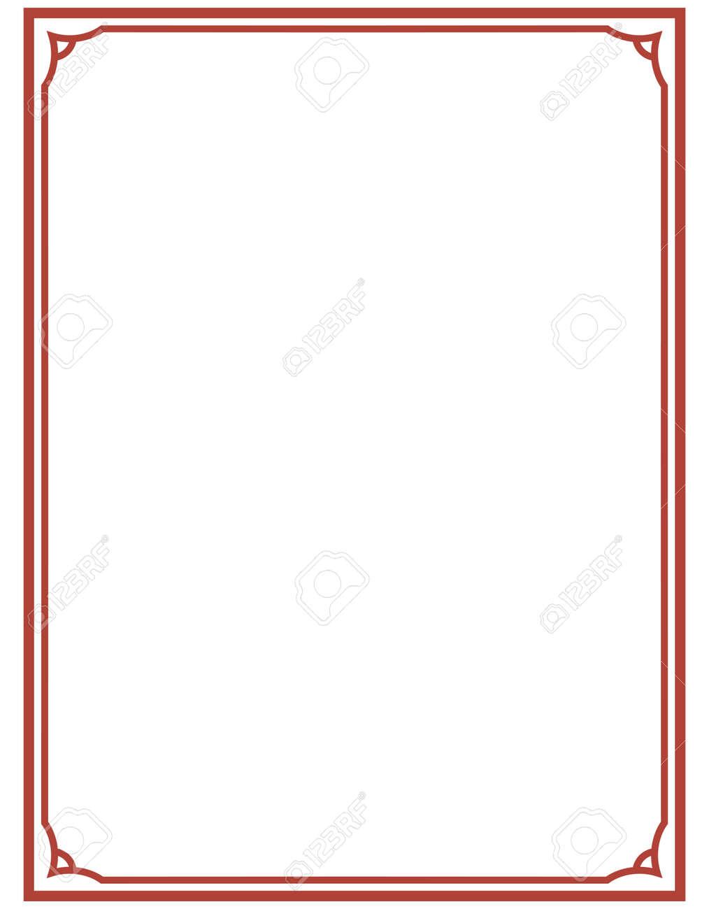Rahmen Deco Plaque. Einfache Linie Ecke Der Vektorkunst Lizenzfrei ...