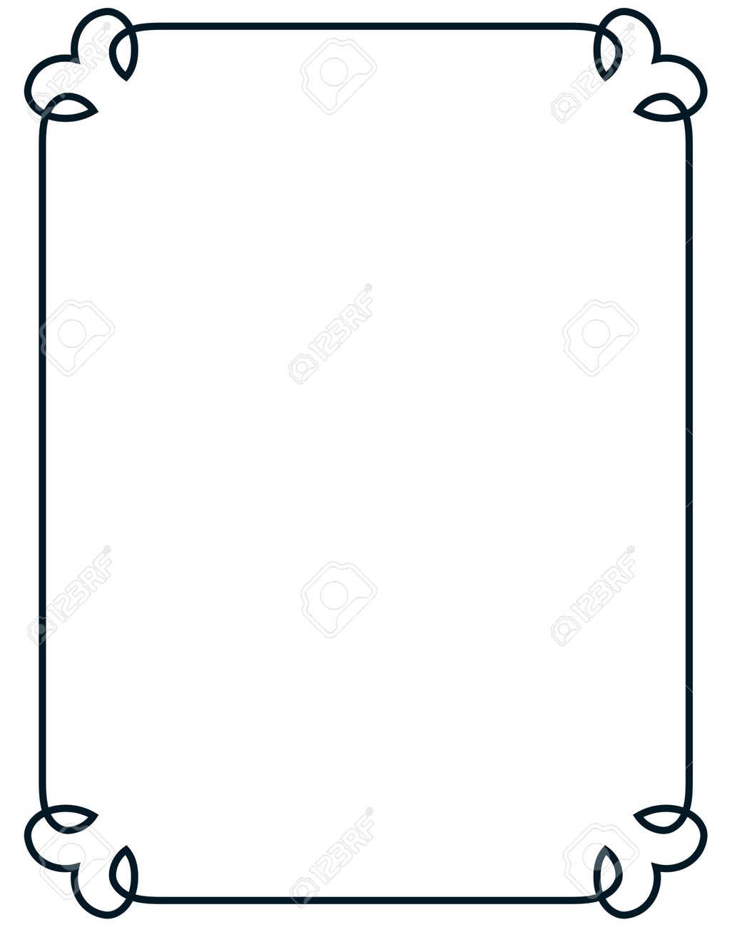 border frame line deco vector label simple royalty free cliparts rh 123rf com art deco vector art art deco frames vectors