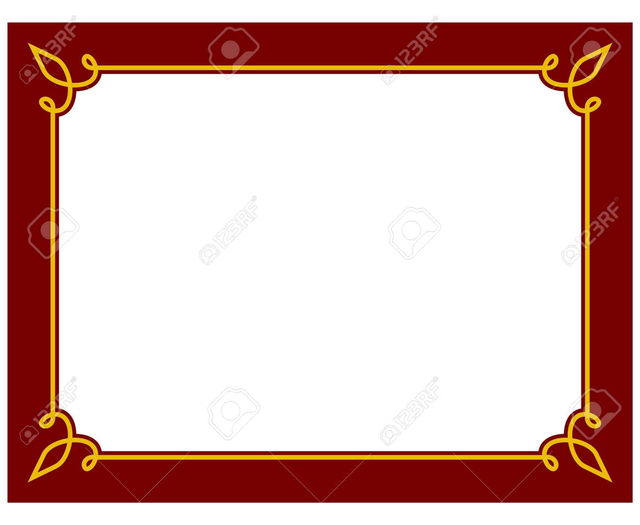 Border Frame Deco Plaque. Vector Art Simple Line Corner Royalty Free ...