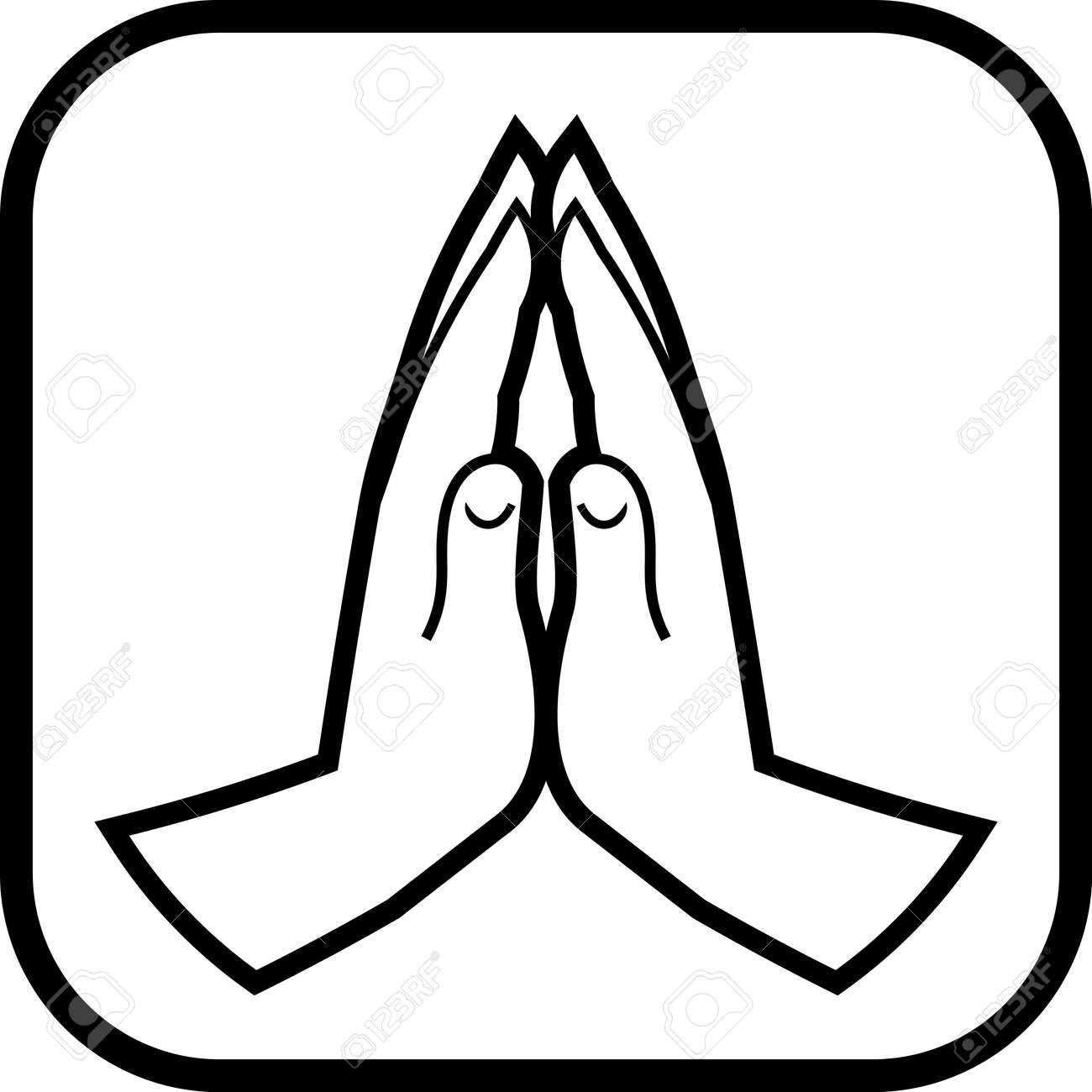 Praying hands vector icon - 52830974