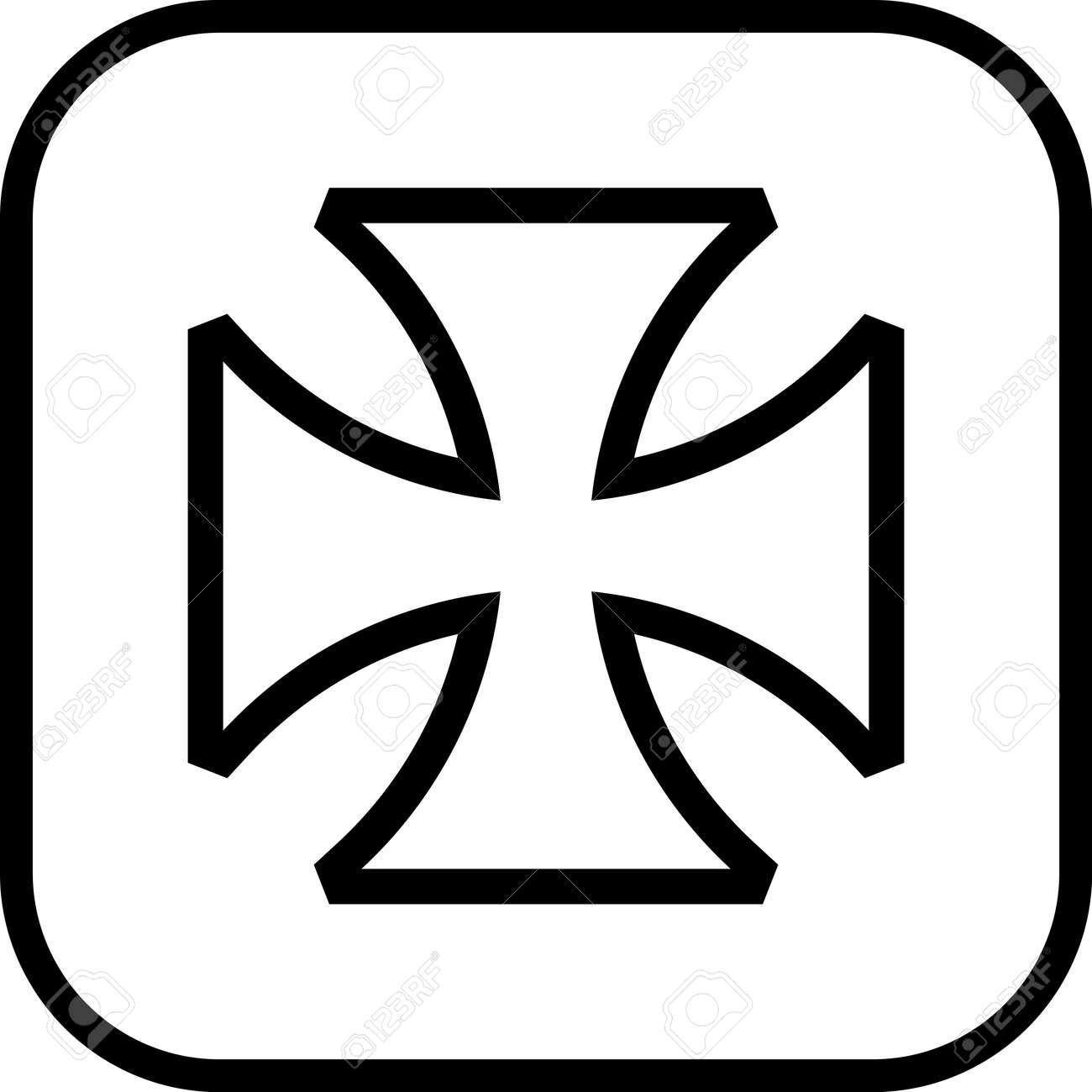 maltese cross vector icon royalty free cliparts vectors and stock rh 123rf com maltese cross vector free maltese cross vector outline