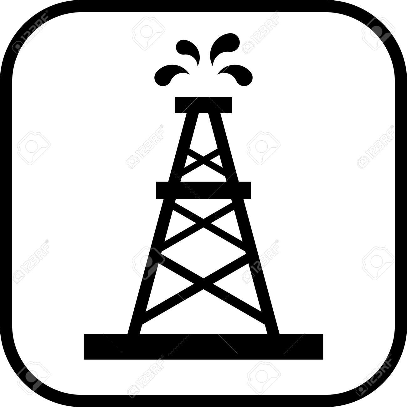 Oil rig vector icon - 52831529