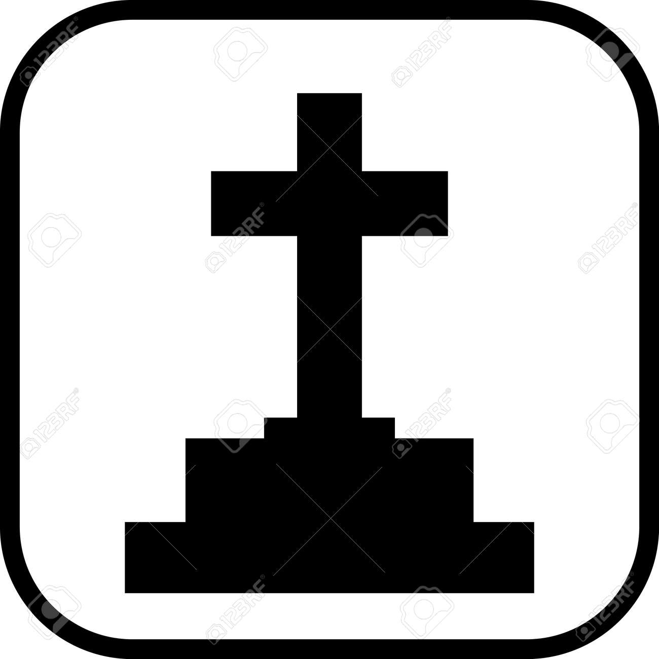 grave with tombstone cross vector isolated royalty free cliparts rh 123rf com tombstone vector free download halloween tombstone vector
