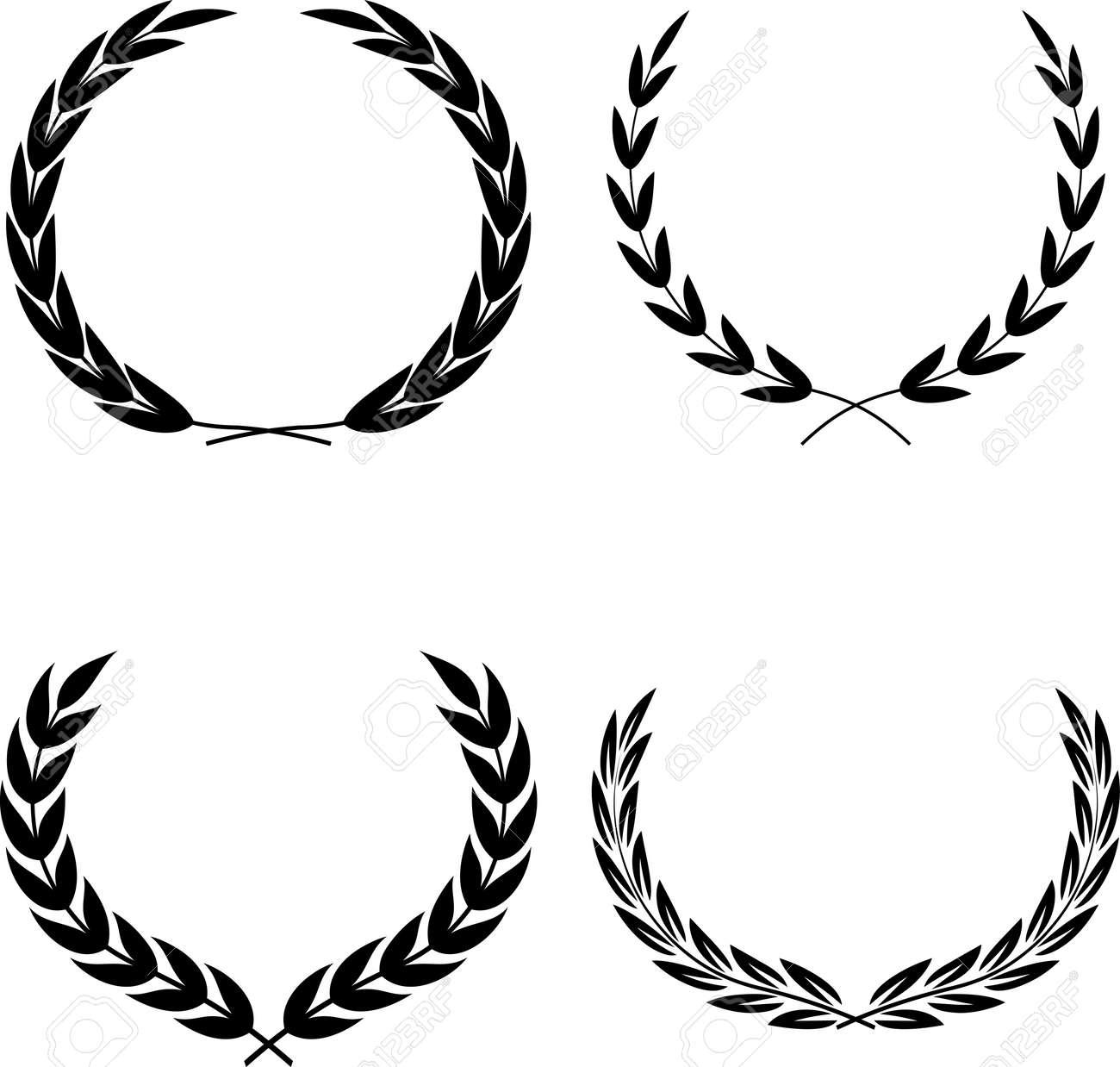 Laurel Wreaths Vector - 52870137